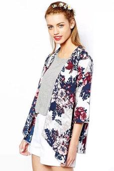 Chiffon Kimono Cardigan Floral Print (Multicolor) - picture 2