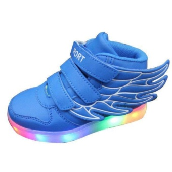 Children Boys Girls Running wings shoes Luminous Sneakers Led Light Up Kids sneaker - intl