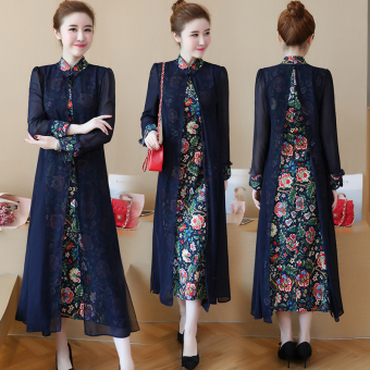 Chinese Autumn New style Republican dress Dress (Red)