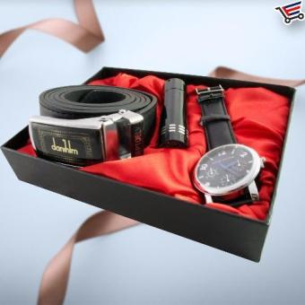Christmas Birthday Gift Present Set Belt,flashlight,Watch Jesou Collection - picture 2