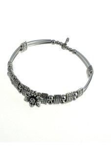 Chrysanthemum Hand Chain Bracelet (Silver)