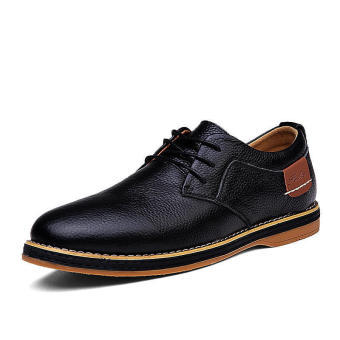 Classic Men Leather Lace-Ups Formal Shoes (Black) - picture 2