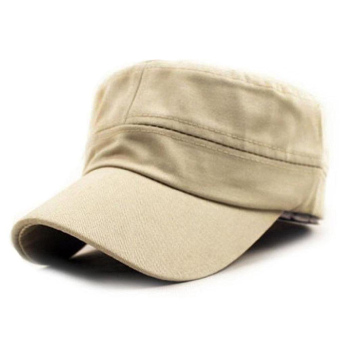 Classic Plain Vintage Army Military Cadet Style Cotton Cap HatAdjustable Beige Price Philippines