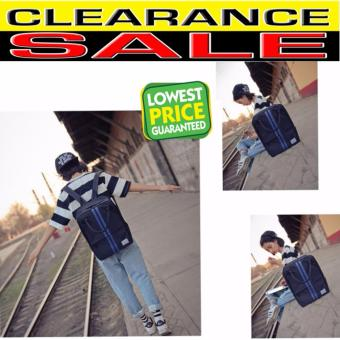 Clearance Sale !!! Pilot 4005 Japan Fashion Striped Style Large Capacity Unisex casual Backpack Handbag (Blue)