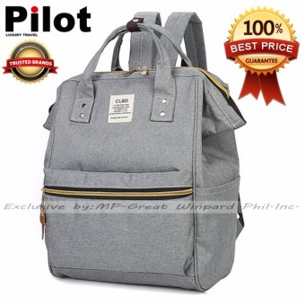Clearance Sale !!! Pilot 4019 Japan CLBD Style Canvas School Student Backpack Best Gift (Grey)