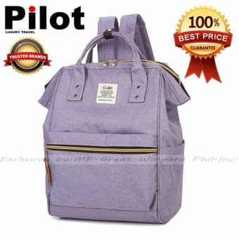 Clearance Sale !!! Pilot 4019 Japan CLBD Style Canvas School Student Backpack Best Gift (Lavender)