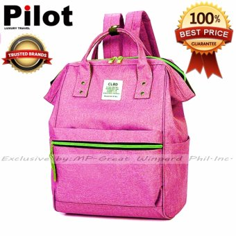 Pilot 4019 Japan CLBD Style Two Ways BigCapacity Backpack Hand Carry Students Bag Best Gift (Purple Red)