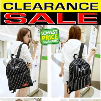 Clearance Sale !!! Pilot 5015 USA Striped Fashion Style Backpack (Black)