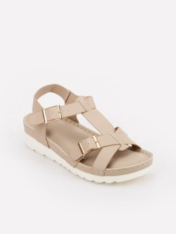 Cln 17G-Delvina Flat Sandals (Bone) Price Philippines