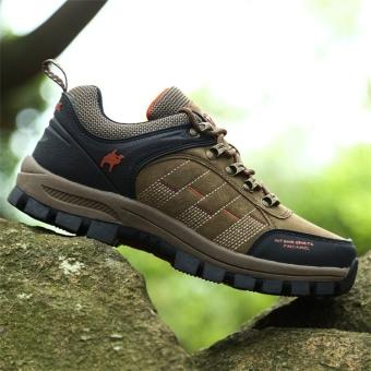 CLZQ 2017 New Men and Women Outdoor Hiking Shoes WaterproofAnti-skid Wear-resistant Climbing Sports Outdoor Footwear-Khaki -intl - 5