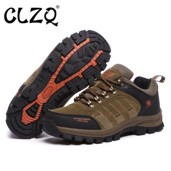 CLZQ 2017 New Men and Women Outdoor Hiking Shoes WaterproofAnti-skid Wear-resistant Climbing Sports Outdoor Footwear-Khaki -intl Price Philippines