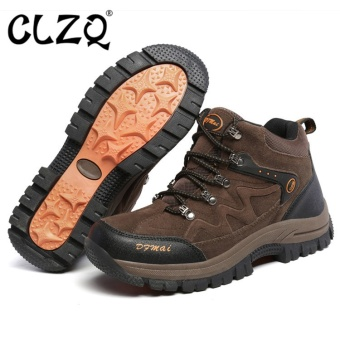 CLZQ 2017 New Outdoor Climbing Men and Women Low Waterproof Anti -Skid Walking Shoes Outdoor Hiking Shoes Couple Large Size36-48(Brown) - intl Price Philippines