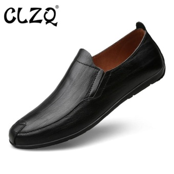 CLZQ Business Men's Basic Flat Leather Gentle Wedding Dress ShoesLuxury Brand Formal Wearing British-Black - intl Price Philippines