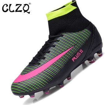 CLZQ Men 's Outdoor Sports Football Shoes Professional CompetitionGrass Training Sneakers Large Scale 39-46 Black Long Nails - intl Price Philippines