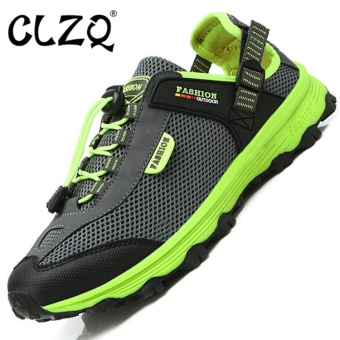 CLZQ Mens and WomenOutdoor Adventure Hiking Shoes Anti CollisionWaterproof Trail Climbing Mountain Sport Sneakers forMountaineer-Men Grey - intl Price Philippines