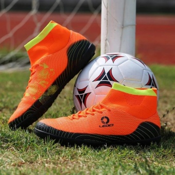 CLZQ Men's Outdoor Futsal Shoes Boots Spike Soccer Shoes-Orange -intl Price Philippines