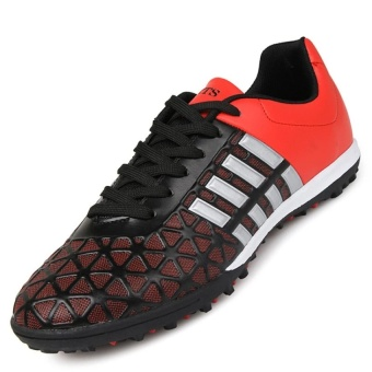 CLZQ Men's Outdoor Soccer Boots Turf Indoor Soccer Futsal Shoes(Red) - intl Price Philippines