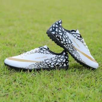CLZQ Men's Outdoor Soccer Shoes Turf Indoor Soccer FutsalShoes-White - intl Price Philippines