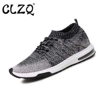 CLZQ Running Shoes for Mens Outdoor Sport Brand Air Mesh BreathableSneakers Super Light Damping Soft Lace Up Shoes-Black - intl Price Philippines