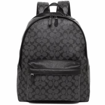 Coach Bag Backpack Signature PVC Leather - Black