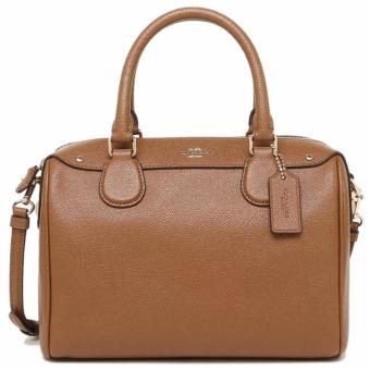 Coach Bennett Satchel in Crossgrain Leather Brown - F36624