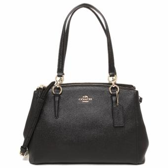 Coach Christie Carryall in Crossgrain Leather Black - F57520