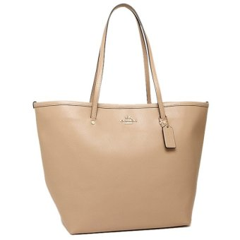 Coach Crossgrain Large Taxi Tote Bag (Nude)