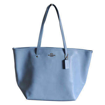 Coach F34099 Crossgrain Large Bag (Pale Blue)