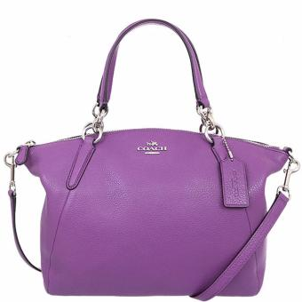 Coach Kelsey Satchel in Pebble Leather Purple - F36675