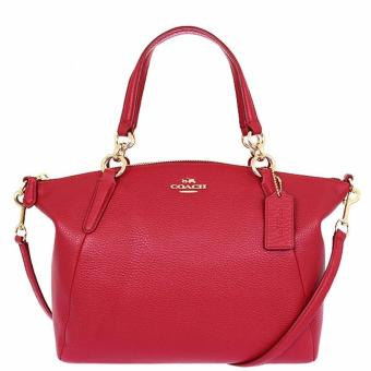 Coach Kelsey Satchel in Pebble Leather Red - F36675