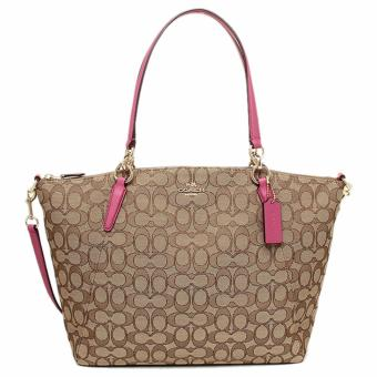 Coach Kelsey Satchel in Signature Khaki Pink - F36722