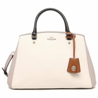 Coach Margot Carryall in Colorblock Leather Chalk - F37248