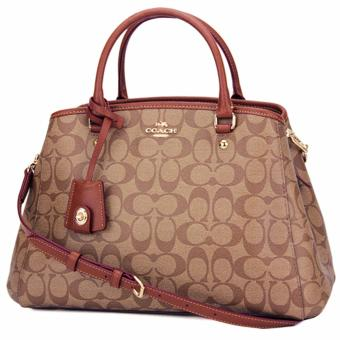 Coach Margot Carryall in Signature Coated Canvas Khaki - F34608