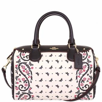 Coach Mini Bennett Satchel in Butterfly Bandana Print Coated Canvas White - F59328