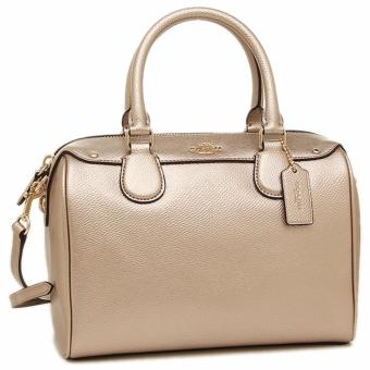 COACH MINI BENNETT SATCHEL IN METALLIC LEATHER GOLD/PLATINUM