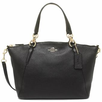 Coach Pebble Leather Kelsey Satchel Crossbody ShoulderBag-F36675-Black