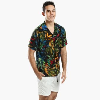 Coco Republic Mens Tropical Casual Shirt (Black) Price Philippines