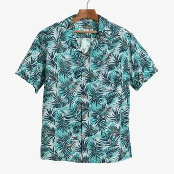 Coco Republic Mens Tropical Casual Shirt (Blue Green)