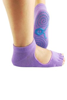 Cocotina Half Toe Ankle Grip Sock Set of 2 - Purple