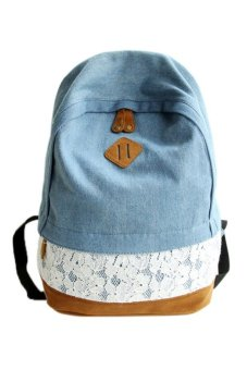 Cocotina Lace Denim Backpack Dark Blue - picture 2