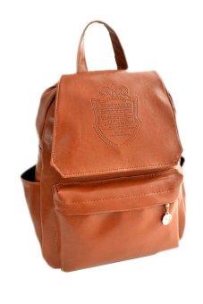 Cocotina Travel Satchel School Bag Backpack Brown