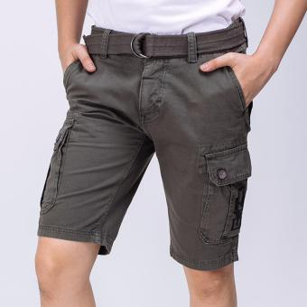 COLORED CARGO SHORTS W/ BELT