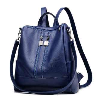 Cool New style Pu women's shoulder bag (Sapphire blue color)