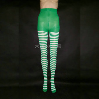 COS quality striped tights (Green)