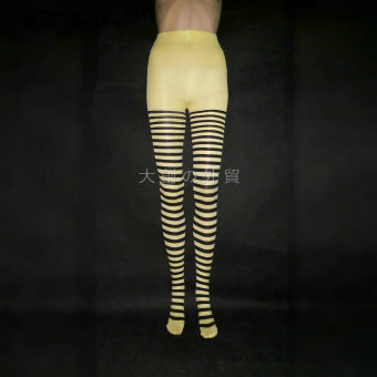 COS quality striped tights (Yellow)