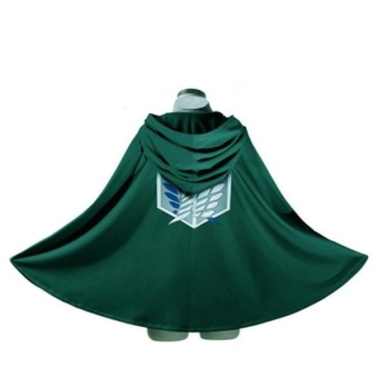 Cosplay Accessories Attack On Titan Shingeki No Kyojin Cloak Cape Green Costume - intl