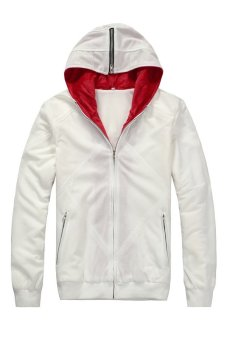 Cosplay Men's Assassin's Creed Desmond Miles Embroidery HoodieJacket (White) - Intl