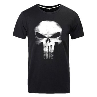 Cosplay Men's Marvel The Punisher Flag T-shirt (Black) Price Philippines