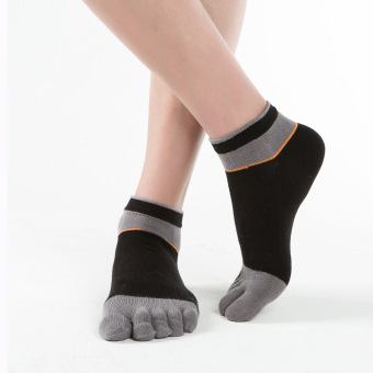 Cotton deodorizing antibacterial striped points toe socks