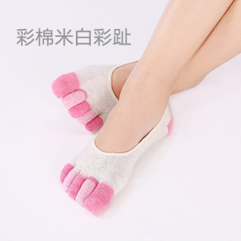 Cotton hidden thin deodorizing toe socks no-show socks (Color toe white)